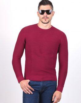 Пуловер STYLER в цвят бордо.