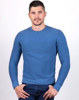 Пуловер STYLER в синьо