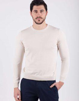 Мъжки пуловер в цвят екрю