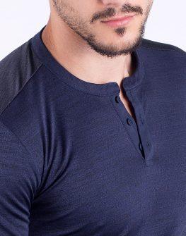 Блуза в цвят деним