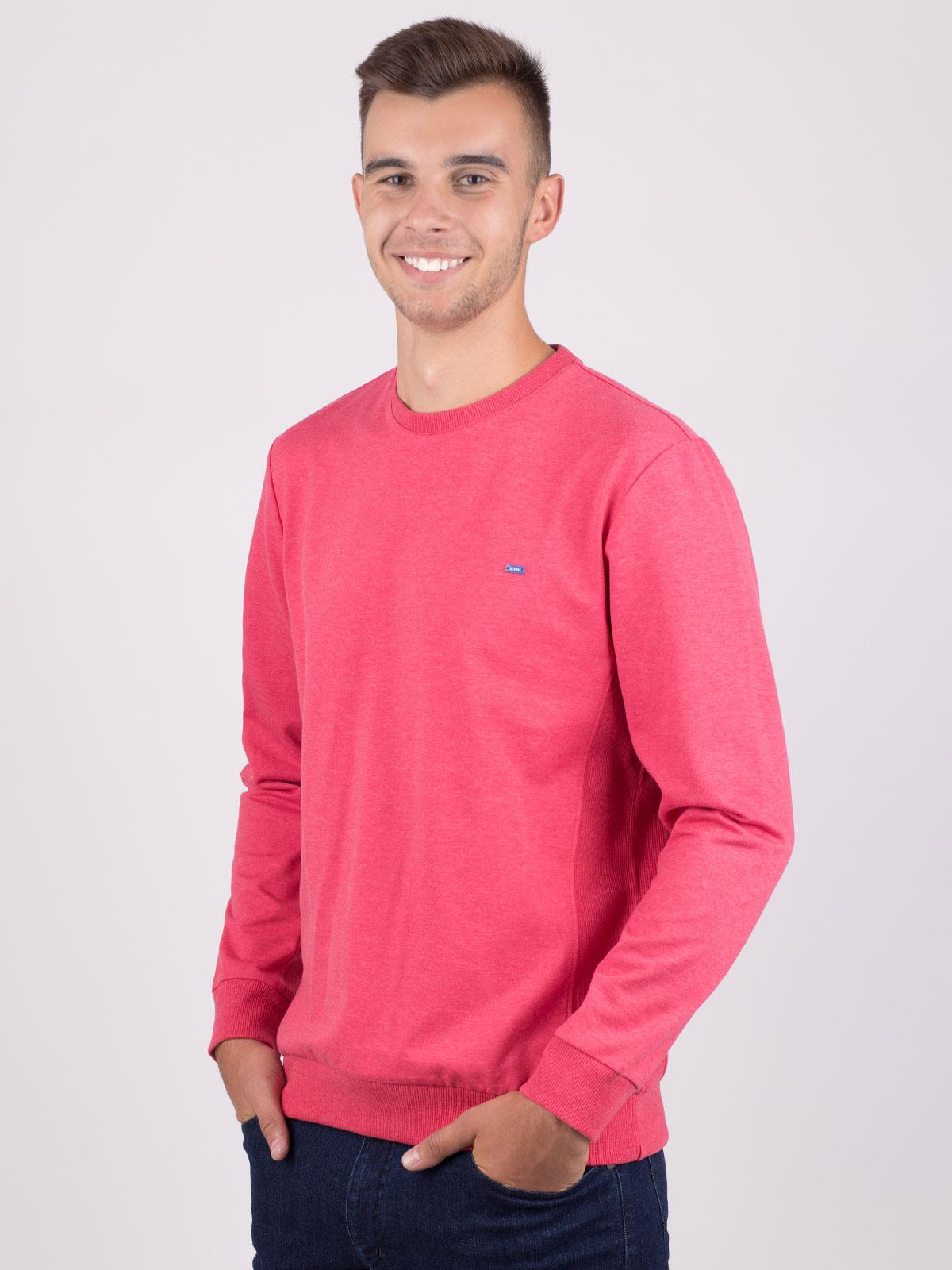 Мъжка блуза в цвят корал