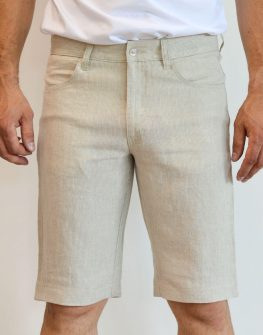 Къс ленен панталон
