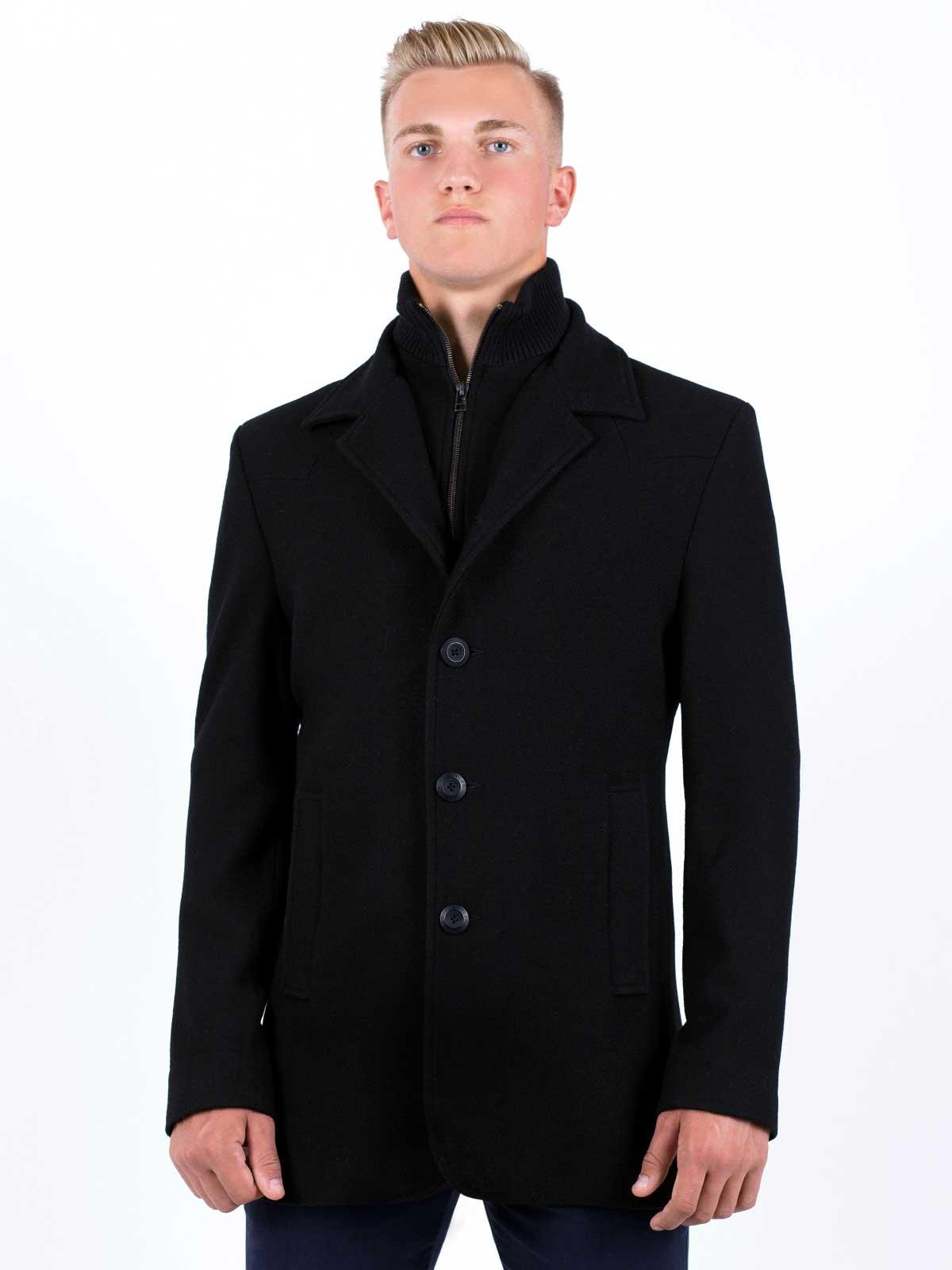 Палто черно късо