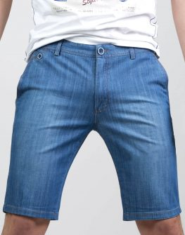 Къс панталон светъл деним