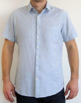 Спортно-елегантна риза с къс ръкав