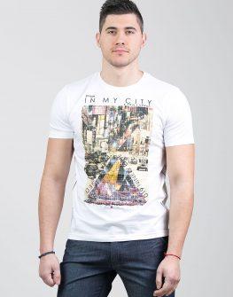 Мъжка тениска с печат