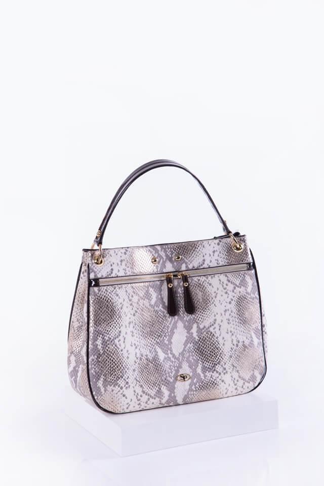 Елегантна дамска чанта в кафяв цвят