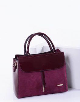 Елегантна дамска чанта в бордо цвят