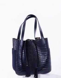 Спортно-елегантна дамска чанта в син цвят