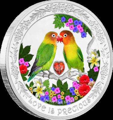 """Сребърна монета """"Любовта е безценна, Неразделки"""""""