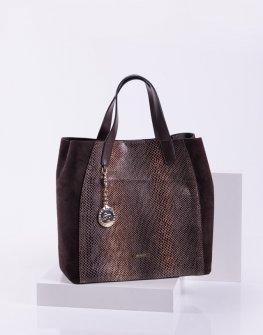 Елегантна дамска чанта от змийска кожа Sara Pen