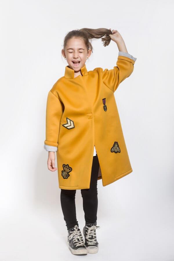 Детско палто над коляното от неопрен EVE&IVI