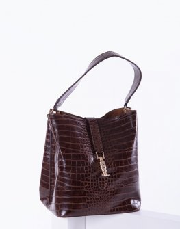 Елегантна дамска чанта в кафяв цвят Sara Pen