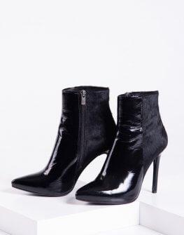 стилни лачени боти в черен цвят