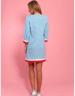 рокля с кантове Cocoon