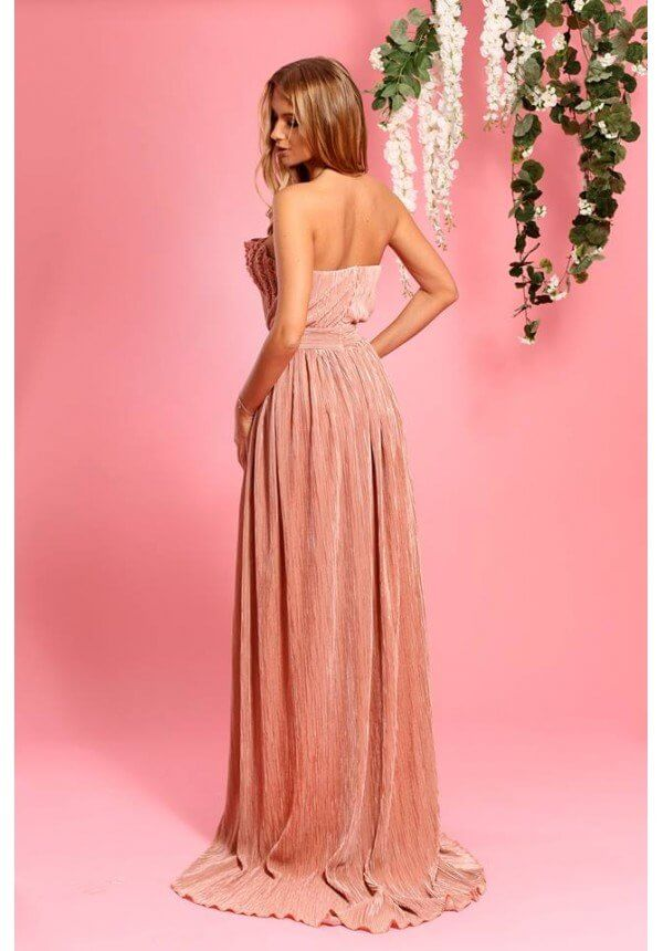 рокля в цвят пепел от рози