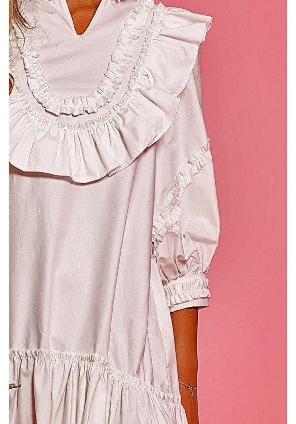 рокля с детайли Cocoon