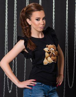 Тениска с принтBear Love