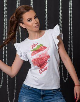 """Тениска с принт""""Strawberry"""""""